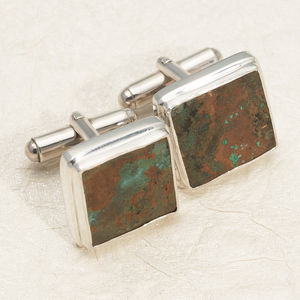 Cutty Sark Copper Cufflinks In Sterling Silver - mens