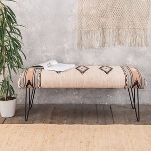 Hand Woven Wooden Bench - sale