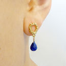 Lapis Lazuli Vermeil Studded Earrings