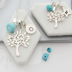 Mama Et Moi Tree Of Life Necklaces With Birthstones - jewellery sets