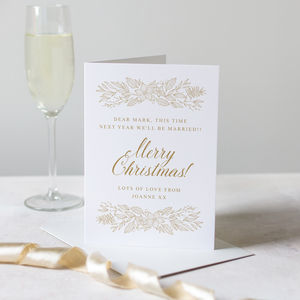 Personalised Fiancé Christmas Card - cards & wrap