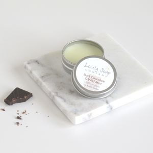 Dark Chocolate And Wild Mint Organic Lip Balm
