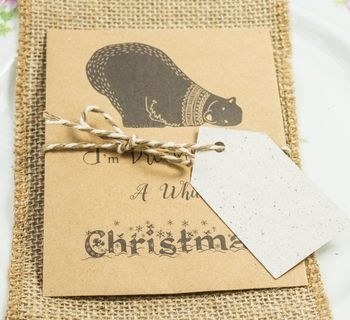 10 Recycled Seed Packet Christmas Cards Polar Bear