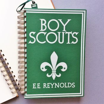 'Boy Scouts' Upcycled Notebook