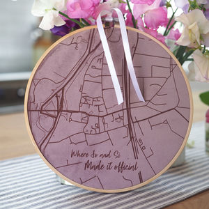 Velvet Map Personalised Wall Art - gifts for her