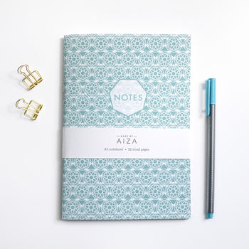 Geometric Pattern Notebook – A5