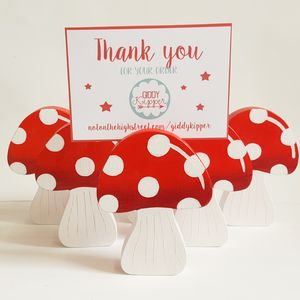 Toadstool Photo Holder - place card holders