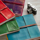 Personalised Handcrafted Three String Leather Albums