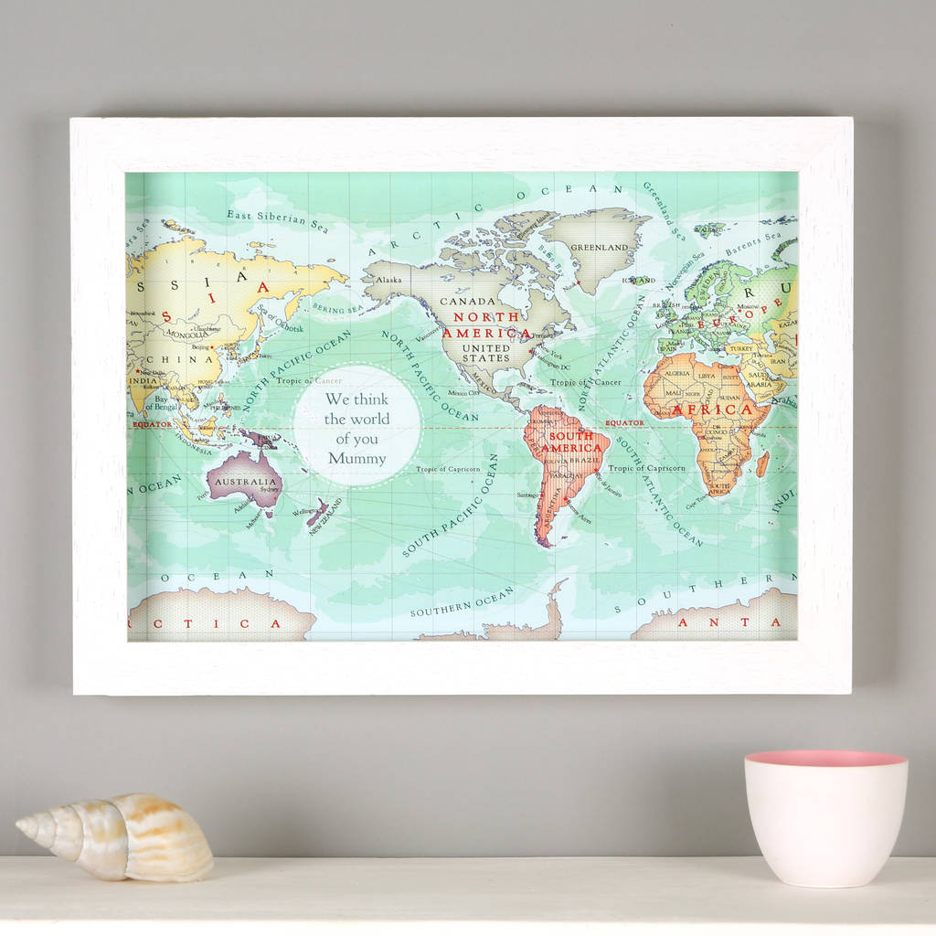 you are my world map framed print gift