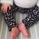 Monochrome Baby Leggings, Unisex Animal Print