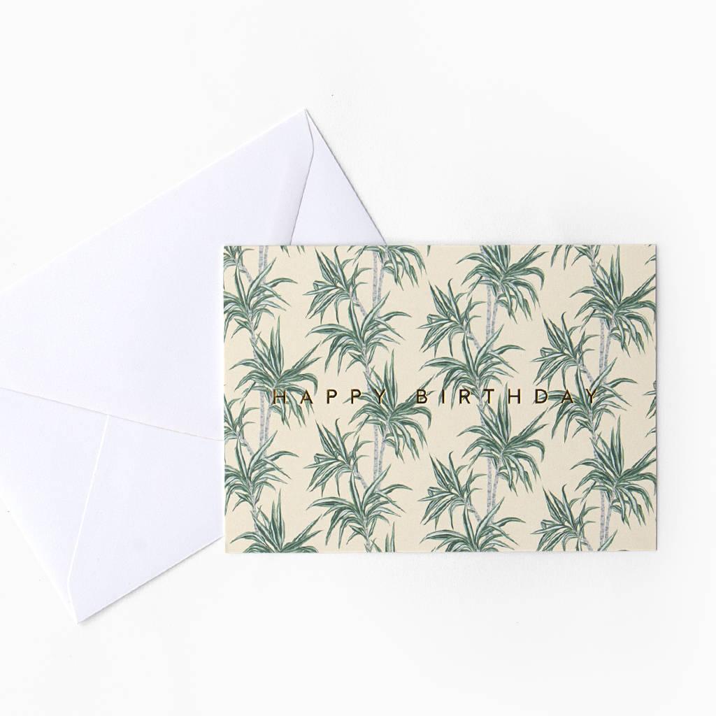 Tropical Palm Tree 'Happy Birthday' Card