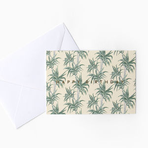 Tropical Palm Tree 'Happy Birthday' Card