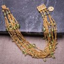 Peridot And 18ct Yellow Gold Vermeil Bracelets