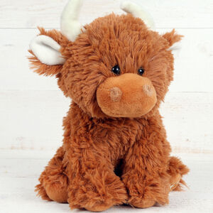 Highland Coo Cuddly Soft Toy