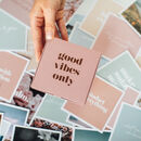 'Good Vibes Kit' Inspirational Prints