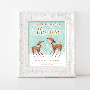 Personalised Baby Print | First Christmas - baby's room