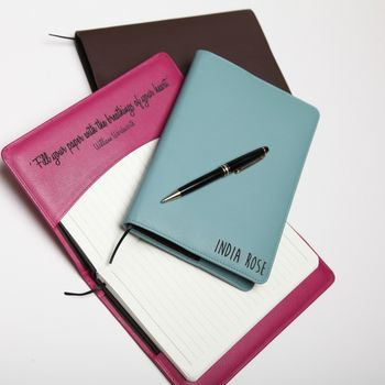 Personalised Luxury Leather Refillable Notebook