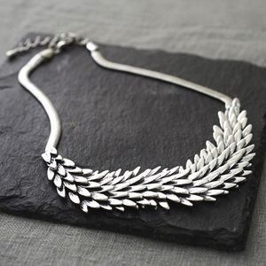 Metal Feather Necklace - 21st birthday gifts