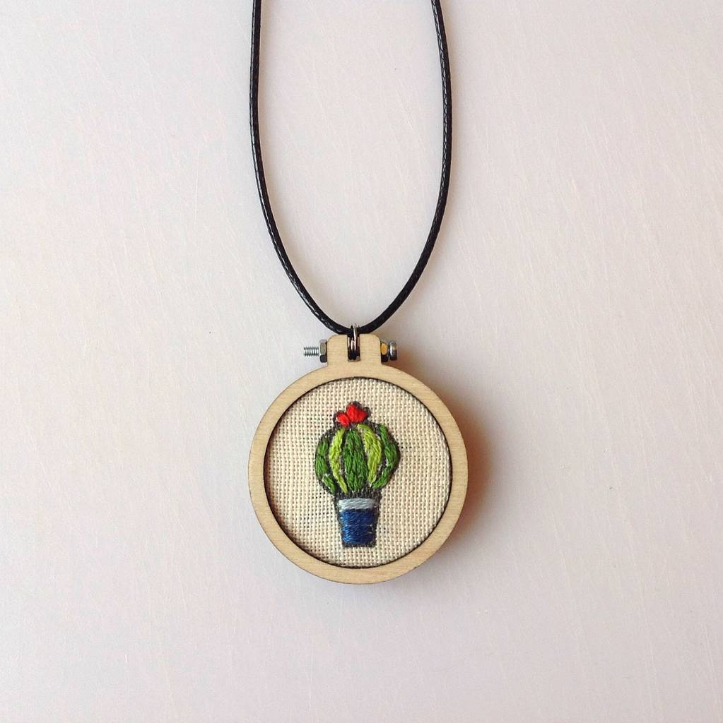 Embroidery diy pendant kit by liz padgham major
