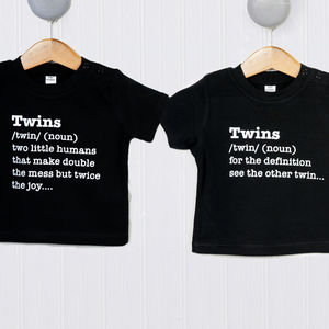 Twin Definition T Shirt - clothing