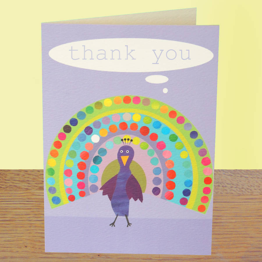 personalised bubble peacock card by kali stileman publishing