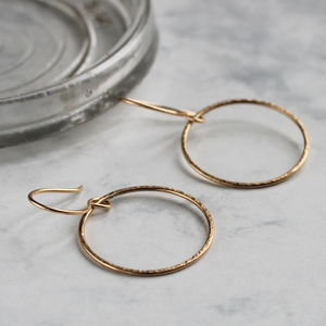 Sparkle Hoop Earrings Gold Fill - earrings