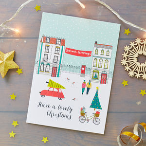Season's Greetings Christmas Card Pack - christmas cards: packs