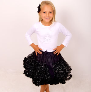 Black Shimmer Pettiskirt Tutu - clothing