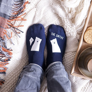 Personalised Bear Family Socks - gifts for him