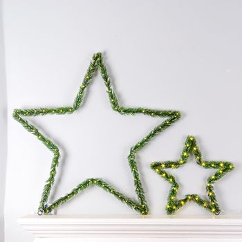 Faux Fir LED Stars