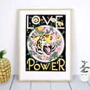 B3 Love Is Power, Motivational Quote Print