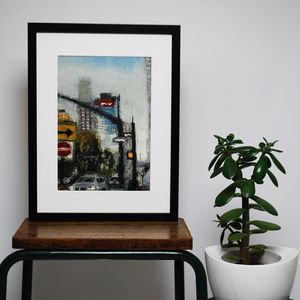 I Love This City New York Original Oil Painting - valentine's gifts for him