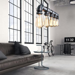 Industrial Steam Punk Pipe Lighting - pendant lights