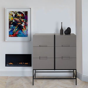 Ursula Industrial Chest Of Drawers - furniture