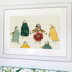 A Parcel Of Penguin Print