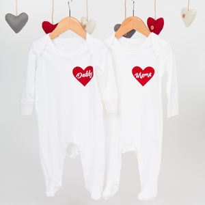 A Special Kind Of Love Flocked Babygrow