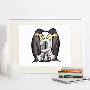 Family Of Penquins Print - baby's room