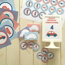 Car Personalised Party Decorations Pack