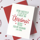 Personalised Christmas Kiss For Husband/Wife Card