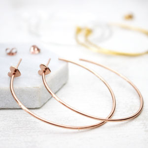 Heart Hoop Earrings - earrings