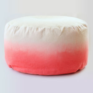 Dip Dyed Ombre Bean Bag - bedroom