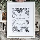 Woodland Wedding Or Anniversary Print