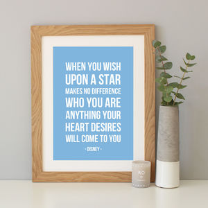 'When You Wish Upon A Star' Song Lyrics Print