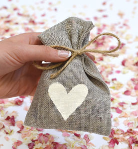 10 Petal Pouches - table decorations