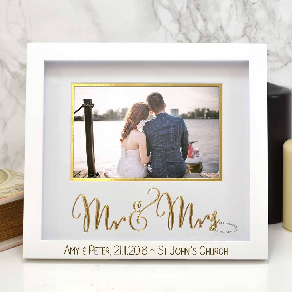 Personalised Mr And Mrs Photo Frame By Giftsonline4u