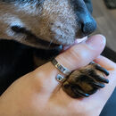 Personalised Sterling Silver Pet's Name Wrap Ring