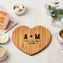 Personalised Heart Wooden Chopping Board