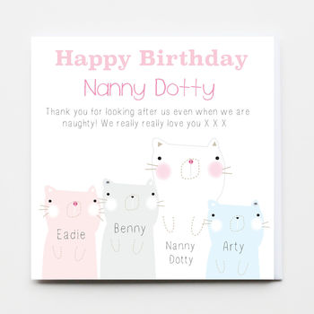 Happy Birthday Nanny Greeting Card