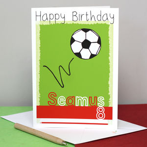 Personalised Football Team Birthday Card - shop by category