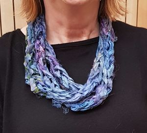 Recycled Sari Silk Scarf